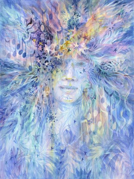 Painting - Goddess Of Winter by Carolyn Utigard Thomas