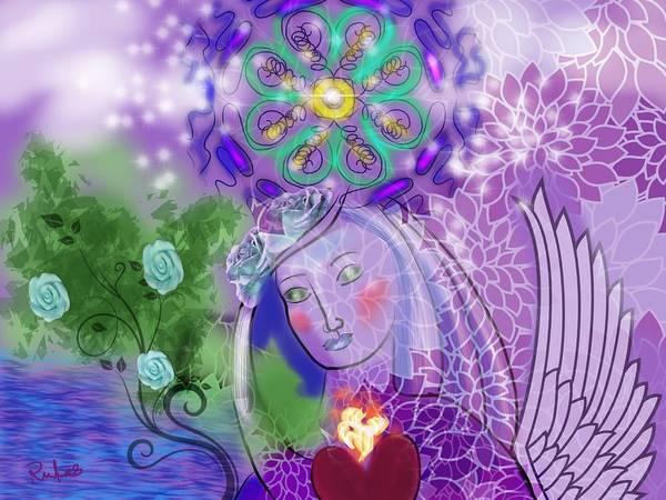Essence Digital Art - Goddess Within by Diana Riukas