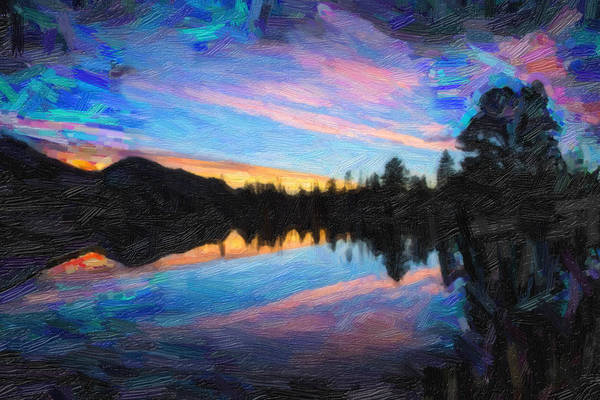 Painting - Goden Sunset by Adam Asar
