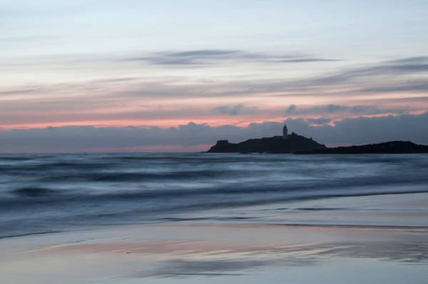 Photograph - Godrevy Lighthouse From The Beach by Pete Hemington