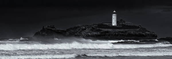 Ives Photograph - Godrevy Lighthouse by Nigel Jones