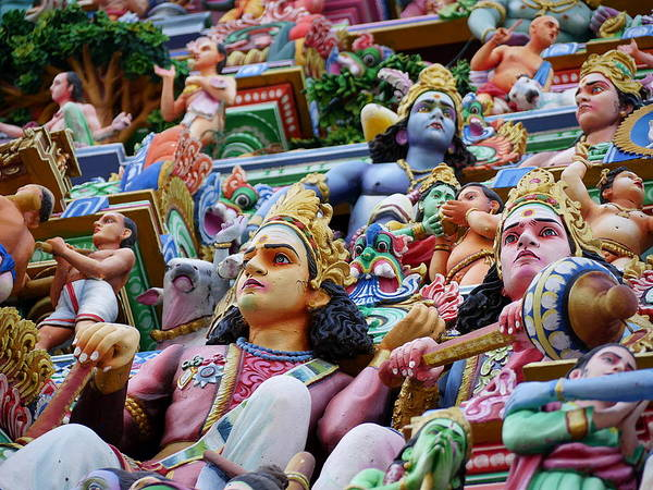 Photograph - Gods Above I - Kapaleeshwarar Temple by Richard Reeve