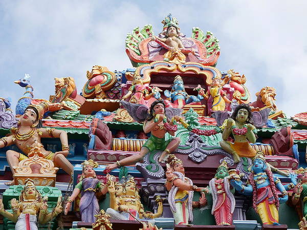 Photograph - Gods Above Vii - Kapaleeshwarar Temple, Mylapore by Richard Reeve