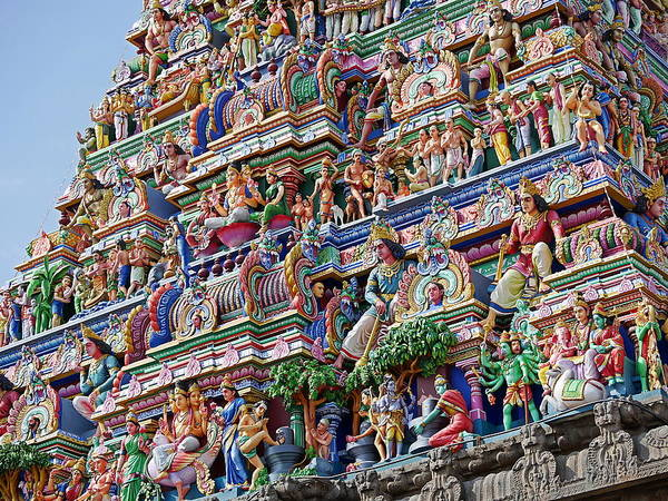 Photograph - Gods Above X - Kapaleeshwarar Temple, Mylapore by Richard Reeve