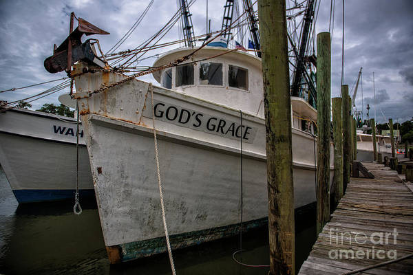 Photograph - God's Grace Shrimp Boat Docked In Mccellanville Sc by Dale Powell
