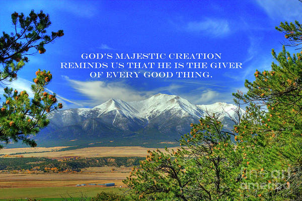 Photograph - God's Majestic Creation by Tony Baca