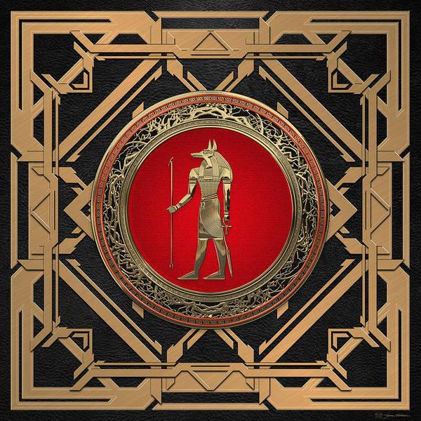 Digital Art - Gods Of Egypt - Anubis by Serge Averbukh