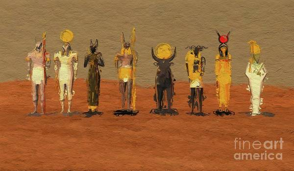 Ancient Egypt Painting - Gods Of Egypt By Mb by Mary Bassett