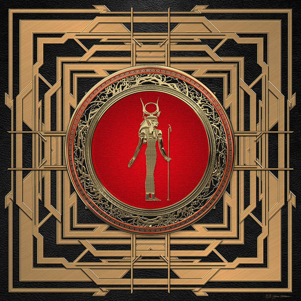 Amulet Digital Art - Gods Of Egypt - Hathor by Serge Averbukh