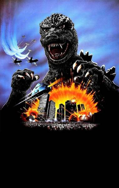 Godzilla Digital Art - Godzilla 1985 by Geek N Rock