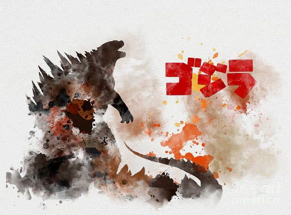 Japan Mixed Media - Godzilla by My Inspiration
