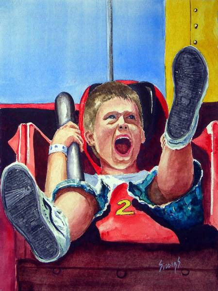 Carnival Rides Wall Art - Painting - Goin' Down by Sam Sidders