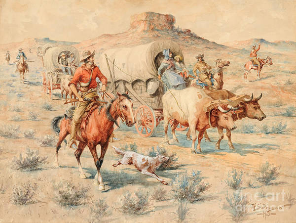 Native American Culture Painting - Goin' West by Celestial Images