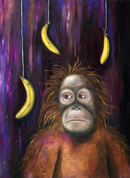 Wall Art - Painting - Going Bananas by Leah Saulnier The Painting Maniac