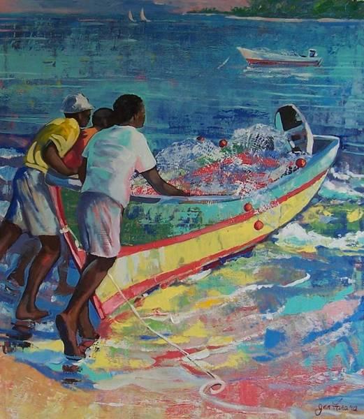 Caribbean Wall Art - Painting - Going Fishing  by Jan Farara