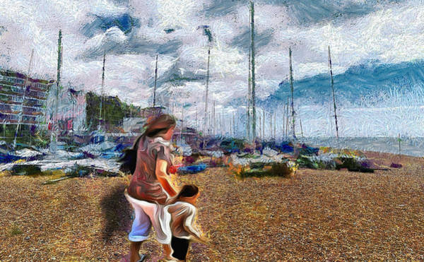 Digital Art - Going For A Paddle by Leigh Kemp