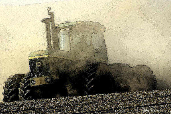 Plowing Photograph - Going Green II by Everett Bowers