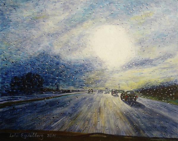 Leta Eydelberg Wall Art - Painting - Going Home by Leta Eydelberg