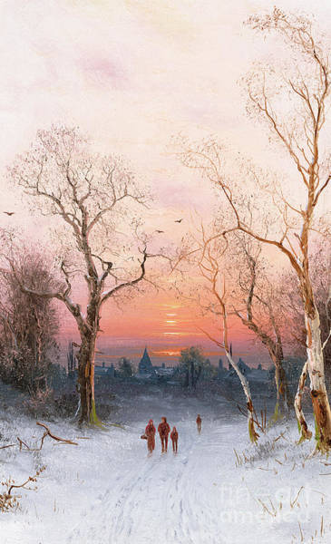 Norwegian Painting - Going Home by Nils Hans Christiansen