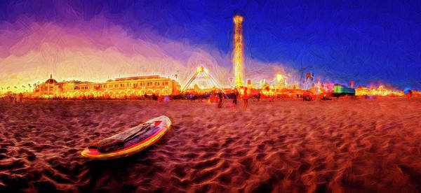 Photograph - Going Home - Painterly - Santa Cruz by Scott Campbell