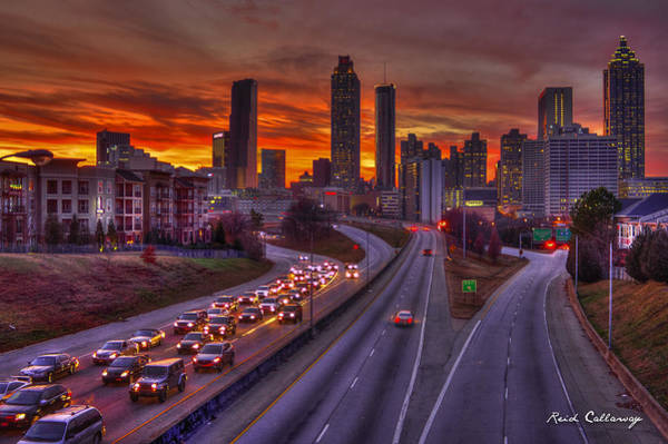 Georgia Power Company Photograph - Going Nowhere Fast 2 Atlanta Sunset by Reid Callaway