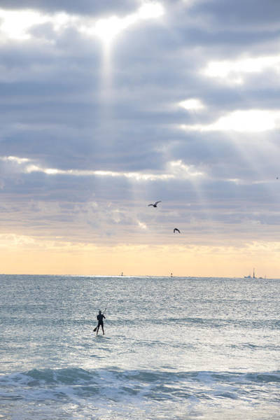 Photograph - Going Surfing On Miami Beach Florida Sunrays Sunrise by Toby McGuire