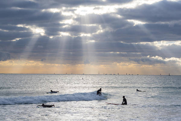 Photograph - Going Surfing On Miami Beach Florida Sunrays by Toby McGuire
