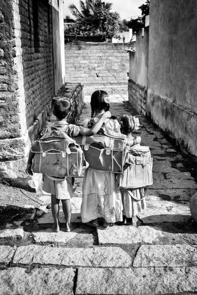 Educating Wall Art - Photograph - Going To School by Tim Gainey