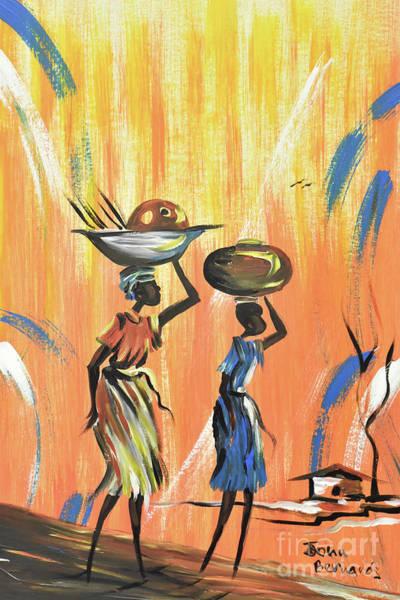 Nigeria Painting - Going To The Farm by John Bernards
