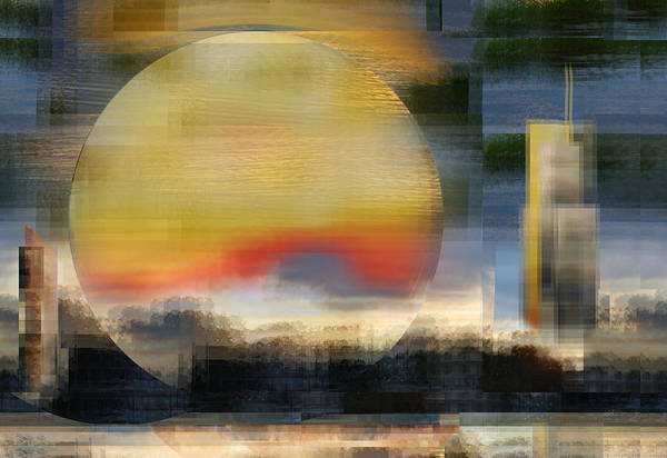 Digital Art - Going To Work At Sunrise Without A Cup Of Coffee by rd Erickson