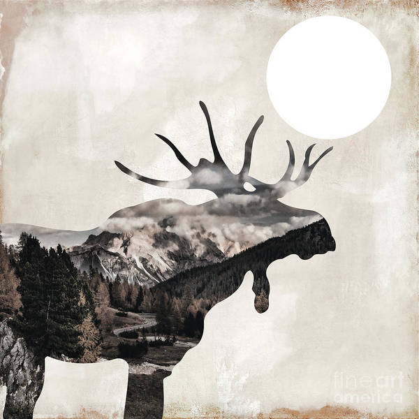 Wall Art - Painting - Going Wild Moose by Mindy Sommers