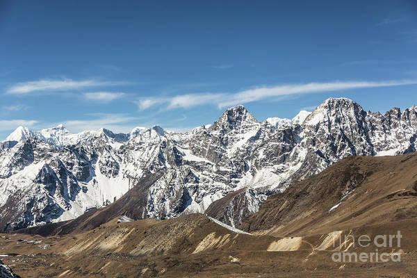 Photograph - Gokyo Valley From Cho La Pass In Nepal by Didier Marti