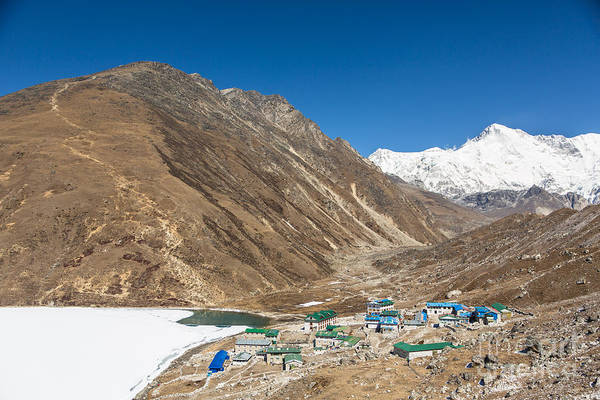 Photograph - Gokyo Village And The Frozen Lake by Didier Marti