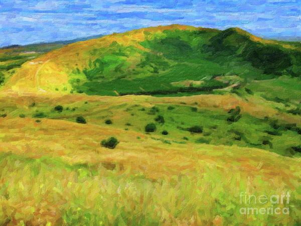 Digital Art - Golan Heights Impressionist by Donna L Munro