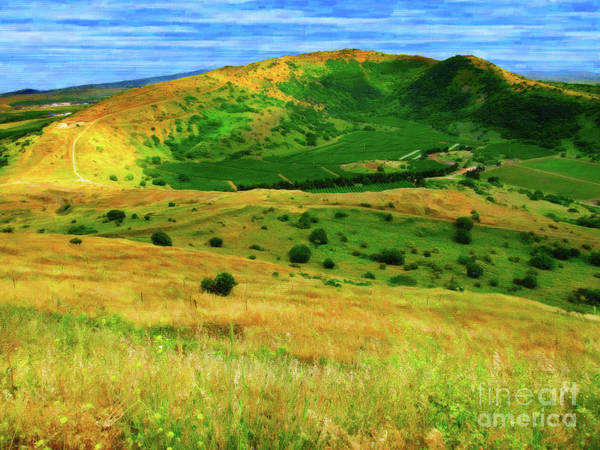 Digital Art - Golan Heights Paint by Donna L Munro