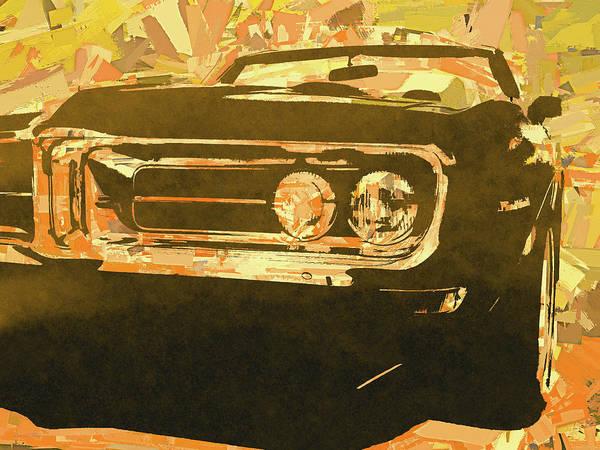 Digital Art - Gold 1968 Firebird Pop by David King