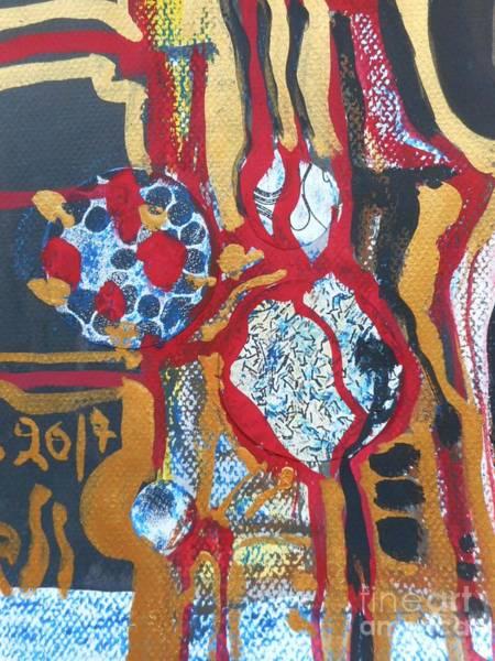 Painting - Gold-abstract-1 by Katerina Stamatelos