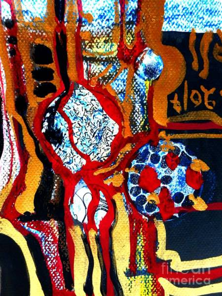 Painting - Gold-abstract-5 by Katerina Stamatelos