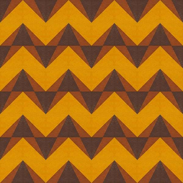 Painting - Gold And Brown Chevron Collage  by Michelle Calkins
