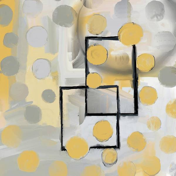 Mixed Media - Gold And Grey Abstract by Eduardo Tavares