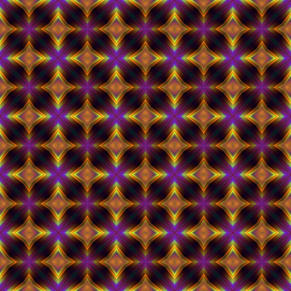Digital Art - Gold And Purple Diamonds by Ruth Moratz
