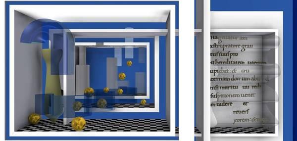 Digital Art - Gold Balls In Palace by Alberto  RuiZ