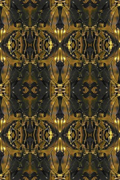 Mixed Media - Gold Black Motorcycle by Tony Rubino