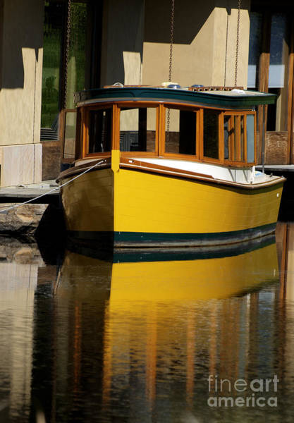 Photograph - Gold Boat Reflects by Norman Andrus