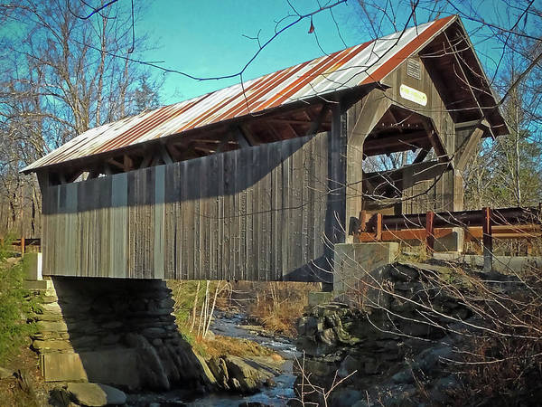 Photograph - Gold Brook Bridge by Robert Mitchell
