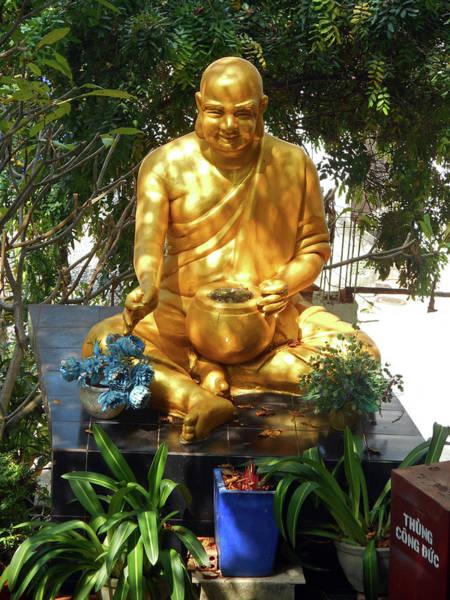 Vung Tau Photograph - Gold Buddha 4 by Ron Kandt