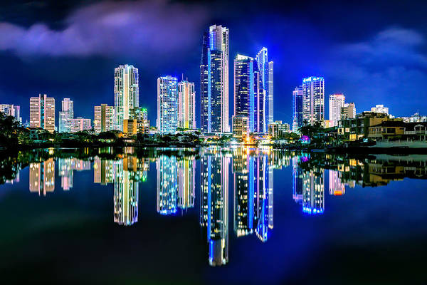 Light Blue Photograph - Gold Coast Reflections by Az Jackson