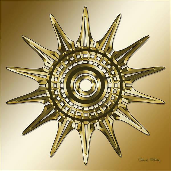 Digital Art - Gold Coffee 11 by Chuck Staley