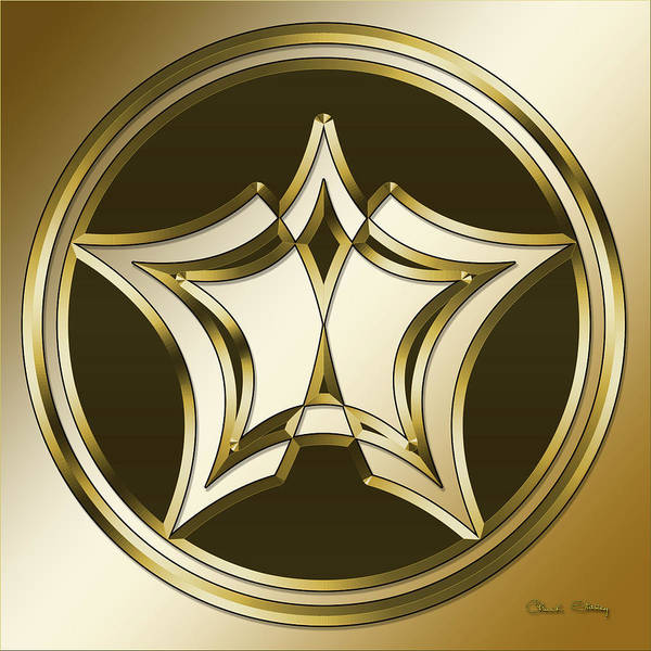 Digital Art - Gold Coffee 12 by Chuck Staley