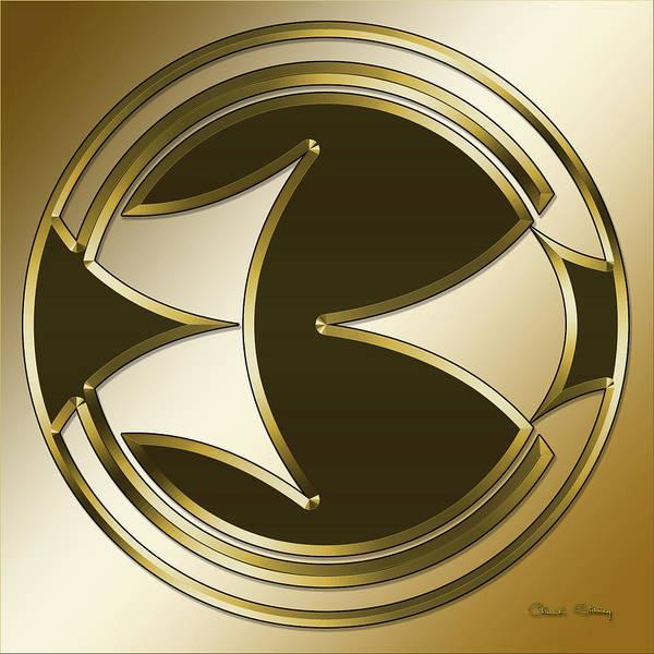 Digital Art - Gold Coffee 5 by Chuck Staley